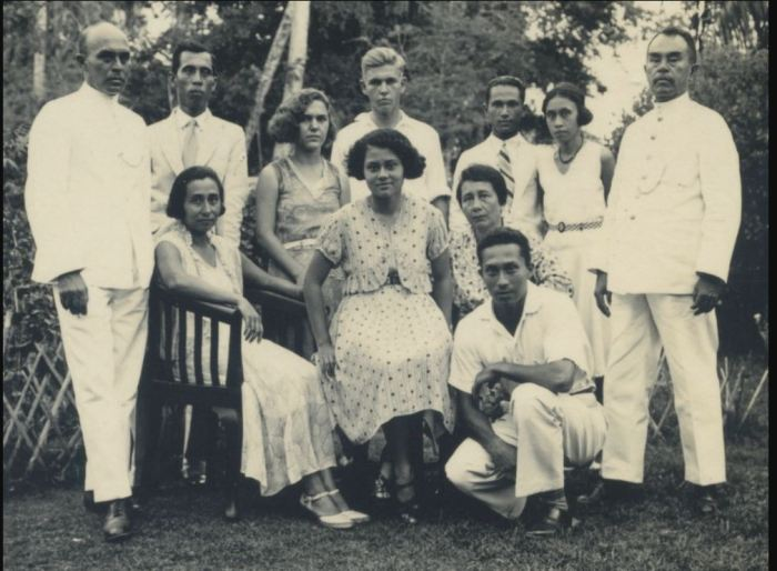Groepsfototo familie Frans